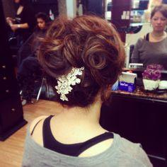 Wedding updo at V'va Hair Salon #vvagirlsruletheworld