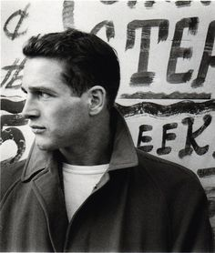 H A N D S O O O O O O M E ! ! ! Paul Newman, New York City , 1958