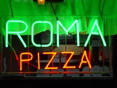 Roma Pizza Restaurant - Neon Sign - Bangor, Michigan | by randomroadside