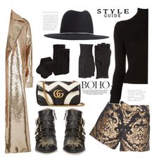 """""""The Midas Touch"""" by hattie4palmerstone ❤ liked on Polyvore featuring Alice + Olivia, Calypso St. Barth, Gucci, BLK DNM, Chloé, H&M and MaxMara"""