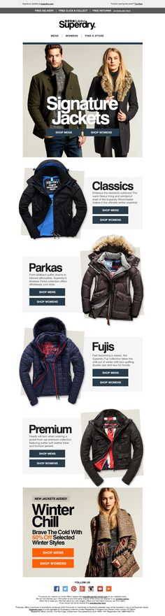 Superdry Jackets Email / Newsletter Design
