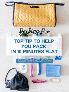 Packing tips for travel planning your vacation whether you're checking your luggage when flying or carrying on the airplane. Your suitcase will be ready to go in an instant with this time-saving trick! Click through to Sometimes Home to read the extensive post with photos of the toiletries, organic reusable makeup remover cloth, and more. #travelplanning #packingtips #travel #luggage #suitcase #makeup #organic #makeupremover #makeupcloth #sustainabletravel