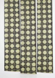 London Tile Wallpaper - Deborah Bowness - Lime Lace