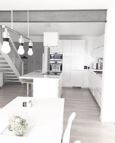 @house157a | Immy and Indi Interior Inspiration @immyandindi Interior Ikea, Kitchen Interior, Condo Living, Home And Living, Dream Home Design, House Design, Kitchen Time, White Rooms, Minimalist Kitchen