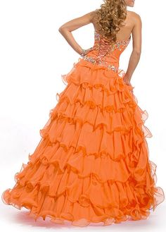 DressilyMe Bridal Dresses Online,Wedding Dresses Ball Gown, stunning chiffon a line strapless sweetheart beaded ruffled high low prom dress Orange Prom Dresses, Orange Dress, Homecoming Dresses, Formal Dresses, Sexy Wedding Dresses, Cheap Wedding Dress, Designer Wedding Dresses, Ball Dresses, Ball Gowns