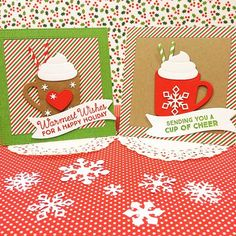 card christmas - MFT Hot Cocoa Cups Die-namics - hot cocoa mug chocolate It's a hot chocolate kind of day. #mftstamps