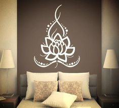 Items on Etsy that resemble Wall Decals Yoga Lotus Indian Buddha Decal Vinyl Decal Home Decor Bedroom Interior Design Art Mural - Wall decals Yoga Lotus Indian Buddha Decal Vinyl Sticker Home Decor bedroom interior Art Mural Dear - Deco Ethnic Chic, Home Decor Bedroom, Diy Home Decor, Diy Bedroom, Yoga Bedroom, Wall Stickers, Wall Decals, Vinyl Decals, Vinyl Art