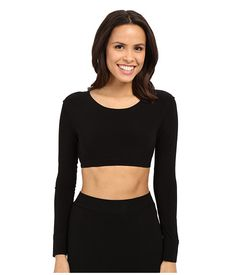 KAMALIKULTURE by Norma Kamali Crew Neck Cropped Top