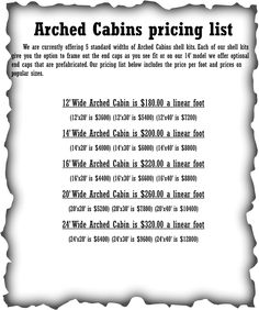 Arched cabins on pinterest cabin floor plans and cabin for Arched cabin floor plans