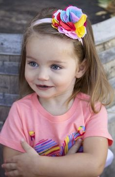PLH Bows & Laces Flower Headband (Baby Girls & Toddler Girls) available at #Nordstrom