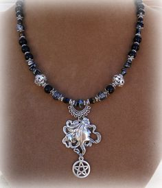 Pentacle Of  Hecate necklace  Necklace,Hematite ,wiccan jewelry,pagan,witchcraft,metaphysical,wicca. $31.99, via Etsy.