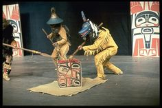 Tsimshian warriors re-enact a Gitksan historical drama (Adawk( g. macdonald