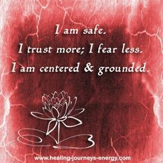 Root Chakra Affirmation... your thoughts create your reality and by practicing your chakra balancing affirmations on a regular basis you will start seeing amazing results in your life.