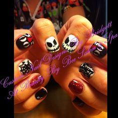 Halloween nails at Beauty By Bee Salon & Spa by Bridgetts Custom Nail Designs