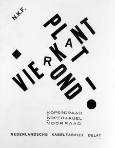 christophersantoso:  Piet Zwart'Vierkant Plat Rond',advertising for NKF,1926270x210mm