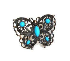 Reserved for H. Butterfly pendant vintage by cabinetocurios, $17.00