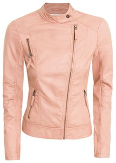 faux leather jacket (in PINK!)