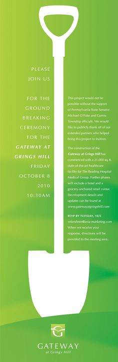 Groundbreaking Ceremony Invitation Templates; Groundbreaking - invitation format for an event