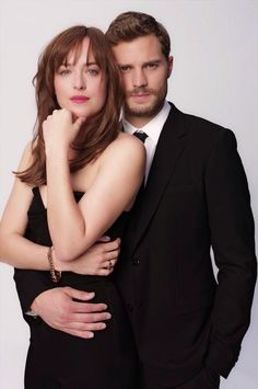 Dakota Johnson and Jamie Dornan Fifty Shades of Grey Promo Shoot