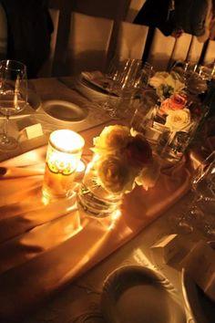 particolari fiori e candele..