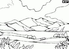 Free Landscape Coloring Pages | Coloring pictures ...