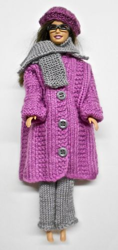 Barbie Doll Clothing - Home Barbie Knitting Patterns, Barbie Clothes Patterns, Knit Patterns, Clothing Patterns, Doll Patterns, Barbie And Ken, Barbie Dolls, Crochet Alphabet, Crochet Doll Clothes