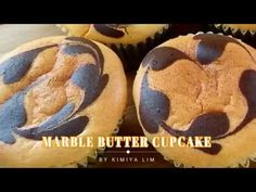 Super Soft & Fluffy Marble Butter cupcake - YouTube