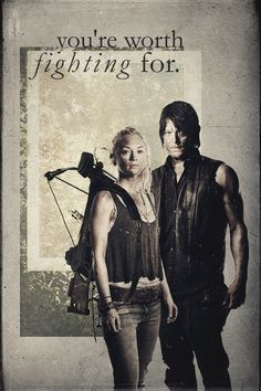 Daryl and Beth: Bethyl - like that beth has the beloved crossbow:)