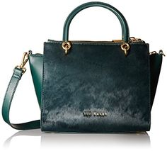 Ted Baker Haylie Top Zip Convertible Tote Bag, Dark Green, One Size