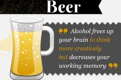 'Coffee vs Beer' infographic proves drinking is awesome Beer Infographic, Working Memory, Alcohol Free, Drinking, Lol, Make It Yourself, Mugs, Coffee, Tableware