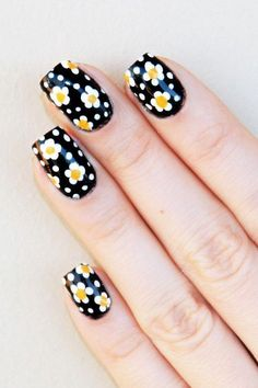 what are the demand of you to a nail art design. you must want something colorful, glamorize, attractive, different and unique and so on. not it. the surprising news for you is that, all of these you want from a nail art design you will get from these floral nail art design applying on your short hair. so, Don't miss this big chance.