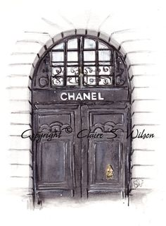 The Doors of Chanel Art Print 8x10 by claireswilson on Etsy