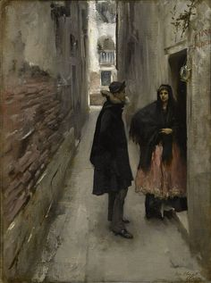 John Singer Sargent - A Street in Venice (1881)