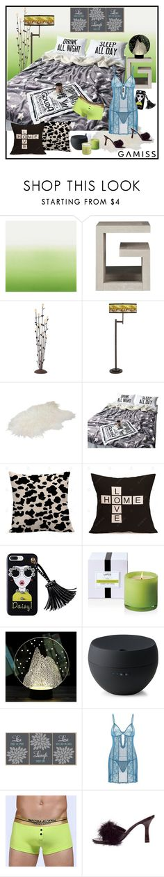 """Cases & blankets - Gamiss"" by carola-corana ❤ liked on Polyvore featuring interior, interiors, interior design, home, home decor, interior decorating, Designers Guild, Franklin Iron Works, Giclee Glow and LAFCO"