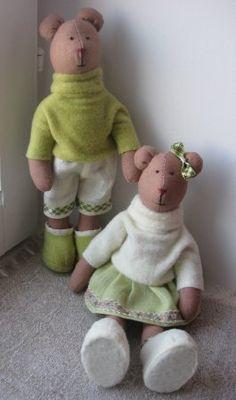 Тильда Мишка: мастер класс по шитью мягкой игрушки от Анастасии Коломакиной