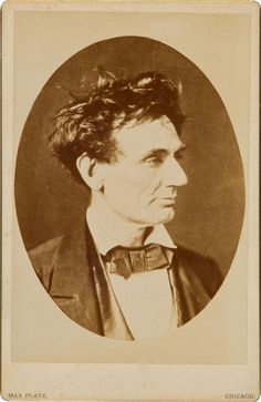 ca. 1857, [Portrait of Abraham Lincoln with tousled hair, ca. 1880-1890 copy by Max Platz], Alexander Hesler via Heritage Auctions