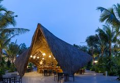 Image 1 of 19 from gallery of Flamingo Bamboo Pavilion / BambuBuild. Photograph by Hoang Le Parametric Architecture, Bamboo Architecture, Tulum, Serpentine Gallery Pavilion, Resorts, Villas, Think Tank, Low Cost, Bamboo Structure