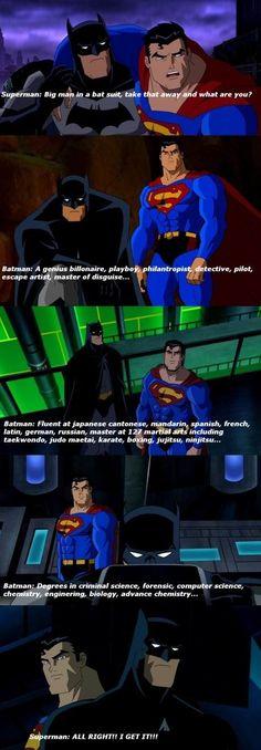 Why I like Batman more than Iron man?