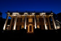 Led architectural and facade lighting in belle meade by outdoor lighting perspectives of nashville Facade Lighting, Exterior Lighting, Outdoor Lighting, Classic Architecture, Facade Architecture, Architectural Lighting Works, Colored Light Bulbs, Architecture Graphics, Classic House