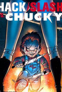 EJ2216 Hack Slash vs Chucky Art 36x24 Print POSTER