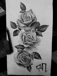Daniel Smoker – Roses Daniel Smoker – Roses Th … – Tattoos Rose Bud Tattoo, Rose Drawing Tattoo, Single Rose Tattoos, Rose Tattoo Thigh, Floral Thigh Tattoos, Rose Flower Tattoos, Flower Tattoo Designs, Tattoo Drawings, Rose Tattoo Ideas