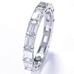 Stuart Moore Collection ~ Eternity band in platinum set with 3.14ct total weight…