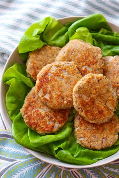 Salmon patties can be easy and quick! Learn how to make salmon patties with canned wild salmon. Serve these crisp patties along with butter lettuce for a light and healthy meal!