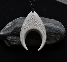 Handcarved Bone Warrior Tusks