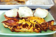 Ranch Style Chicken - chicken breasts marinated, seared, baked, then topped with bacon and cheese. serve as is with sides, or put chicken inside a hoagie roll for a phenomenal sandwich