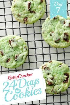 Mint Chocolate Chip Cookies Recipe from our friends at Betty Crocker