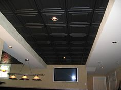 low cost low maintenance easy to install decorative ceiling tiles and suspended ceiling panels for both drop ceilings and glue up installations - Engaging Decorative Ceiling Tiles