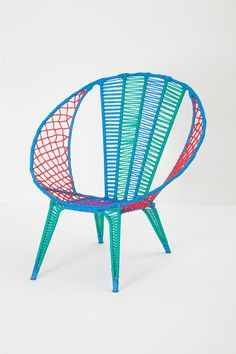 Colorblocked Basket Chair - Anthropologie.com