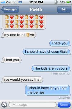 Katniss' confession text message