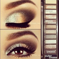 Beautiful eye makeup done with the Naked pallet but could easily be done with other shadows!